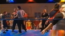 "Hillbilly Helen, Hillbilly Hell, Referee, Steph Scully, Toadie Rebecchi, Genevieve ""Eva"" Doyle in Neighbours Episode 4677"