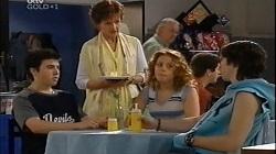 Stingray Timmins, Susan Kennedy, Serena Bishop, Dylan Timmins in Neighbours Episode 4679