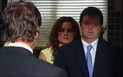 Detective Alec Skinner, Liljana Bishop, David Bishop in Neighbours Episode 4707