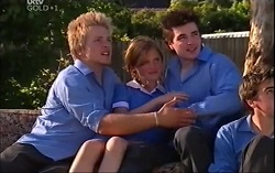 Jimmy Black, Janae Timmins, Mike Pill in Neighbours Episode 4708