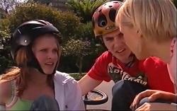 Janae Timmins, Stingray Timmins, Sindi Watts in Neighbours Episode 4710
