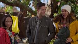 Imogen Willis, Josh Willis, Courtney Grixti in Neighbours Episode 7201