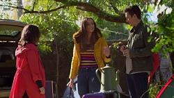 Imogen Willis, Courtney Grixti, Josh Willis in Neighbours Episode 7201