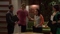 Paul Robinson, Daniel Robinson, Imogen Willis, Naomi Canning in Neighbours Episode 7203