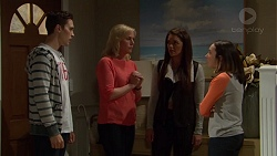 Josh Willis, Amber Turner, Paige Novak, Imogen Willis in Neighbours Episode 7203