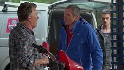 Russell Brennan, Karl Kennedy, Ben Kirk in Neighbours Episode 7203