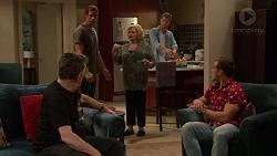 Russell Brennan, Tyler Brennan, Sheila Canning, Mark Brennan, Aaron Brennan in Neighbours Episode 7204