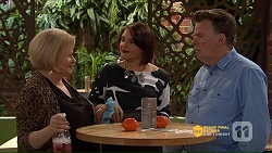 Sheila Canning, Naomi Canning, Russell Brennan in Neighbours Episode 7206