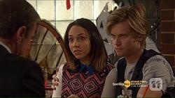 Paul Robinson, Imogen Willis, Daniel Robinson in Neighbours Episode 7206