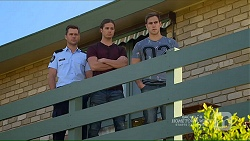 Mark Brennan, Tyler Brennan, Aaron Brennan in Neighbours Episode 7208