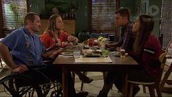Toadie Rebecchi, Sonya Rebecchi, Mark Brennan, Paige Smith in Neighbours Episode 7211