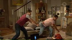 Josh Willis, Aaron Brennan in Neighbours Episode 7213