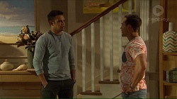 Nate Kinski, Aaron Brennan in Neighbours Episode 7213