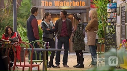 Josh Willis, Paige Novak, Brad Willis, Piper Willis, Lauren Turner in Neighbours Episode 7214