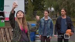 Piper Willis, Ben Kirk, Tyler Brennan in Neighbours Episode 7215