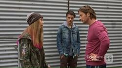 Piper Willis, Ben Kirk, Brad Willis in Neighbours Episode 7215