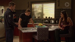 Mark Brennan, Tyler Brennan, Paige Smith in Neighbours Episode 7216