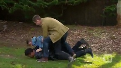 Lenny Macey, Tyler Brennan, Mark Brennan in Neighbours Episode 7217