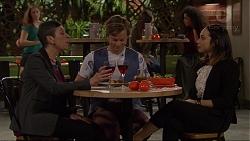 Jan Barton, Daniel Robinson, Imogen Willis in Neighbours Episode 7218