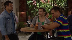 Nate Kinski, Josh Willis, Aaron Brennan in Neighbours Episode 7219