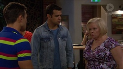 Aaron Brennan, Nate Kinski, Sheila Canning in Neighbours Episode 7220