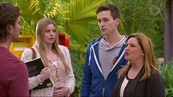 Brad Willis, Amber Turner, Josh Willis, Terese Willis in Neighbours Episode 7222