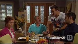 Susan Kennedy, Karl Kennedy, Aaron Brennan, Nate Kinski in Neighbours Episode 7226
