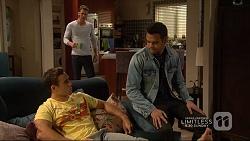 Aaron Brennan, Mark Brennan, Nate Kinski in Neighbours Episode 7227
