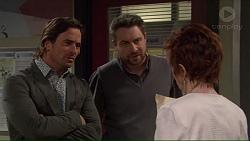 Brad Willis, Wayne Baxter, Susan Kennedy in Neighbours Episode 7228