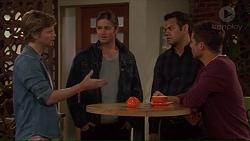 Daniel Robinson, Tyler Brennan, Nate Kinski, Mark Brennan in Neighbours Episode 7228