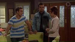 Aaron Brennan, Nate Kinski, Susan Kennedy in Neighbours Episode 7228