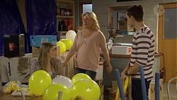 Amber Turner, Lauren Turner, Josh Willis in Neighbours Episode 7229