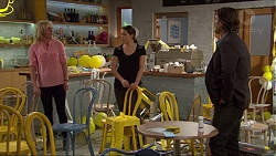 Lauren Turner, Paige Novak, Brad Willis in Neighbours Episode 7230