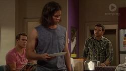 Aaron Brennan, Tyler Brennan, Nate Kinski in Neighbours Episode 7230