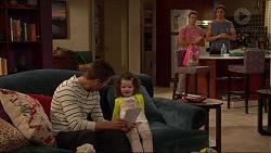Mark Brennan, Nell Rebecchi, Aaron Brennan, Tyler Brennan in Neighbours Episode 7230