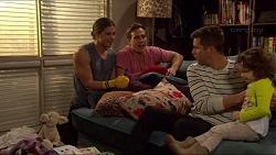 Tyler Brennan, Aaron Brennan, Mark Brennan, Nell Rebecchi in Neighbours Episode 7230