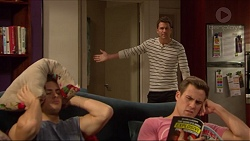 Tyler Brennan, Mark Brennan, Aaron Brennan in Neighbours Episode 7230