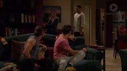 Paige Novak, Mark Brennan, Tyler Brennan, Aaron Brennan in Neighbours Episode 7230