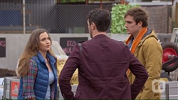 Amy Williams, Liam Barnett, Kyle Canning in Neighbours Episode 7232