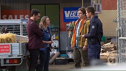 Liam Barnett, Amy Williams, Kyle Canning, Mark Brennan in Neighbours Episode 7232
