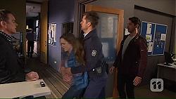 Paul Robinson, Amy Williams, Mark Brennan, Liam Barnett in Neighbours Episode 7232