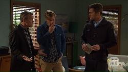 Paul Robinson, Daniel Robinson, Mark Brennan in Neighbours Episode 7232