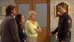 Brad Willis, Imogen Willis, Lauren Turner, Mark Brennan in Neighbours Episode 7233