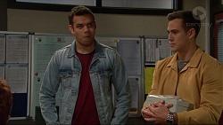 Nate Kinski, Aaron Brennan in Neighbours Episode 7234