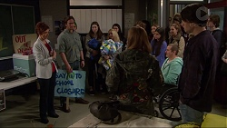Susan Kennedy, Brad Willis, Piper Willis, Toadie Rebecchi, Ben Kirk in Neighbours Episode 7236