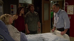 Lauren Turner, Paige Novak, Brad Willis, Karl Kennedy in Neighbours Episode 7238
