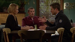 Steph Scully, Toadie Rebecchi, Mark Brennan in Neighbours Episode 7241