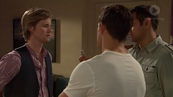 Daniel Robinson, Aaron Brennan, Nate Kinski in Neighbours Episode 7242