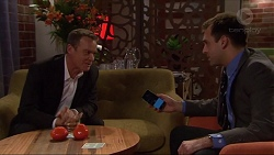 Paul Robinson, Howard Hall in Neighbours Episode 7243