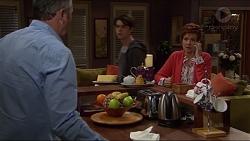 Karl Kennedy, Ben Kirk, Susan Kennedy in Neighbours Episode 7243